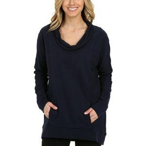 Lucy Savasana Cowl Neck Oversize Sweatshirt Navy S